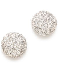 Tai - Crystal Button Earrings - Lyst