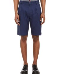 Raf Simons Microdot Pleated Walking Shorts - Lyst