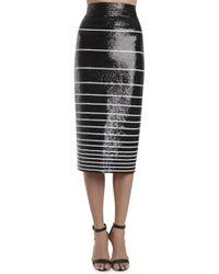 Alice + Olivia Rue Sequin Pencil Skirt - Lyst