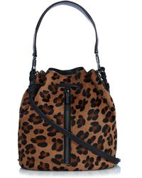 Elizabeth and James - Cynnie Calf-Hair Bucket Bag - Lyst