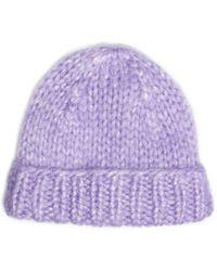 Michael Kors Hand-knit Mohair Hat - Lyst