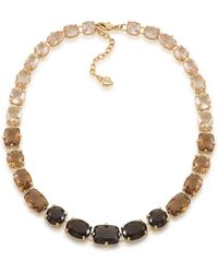 Carolee Gold-tone and Multi-color Stone Necklace - Lyst