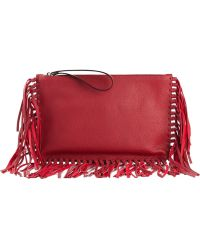 Valentino Fringed Clutch - Lyst
