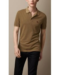 Burberry Cotton Jersey Double Dyed Polo Shirt - Lyst