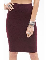 Forever 21 Paisley Pattern Pencil Skirt - Lyst