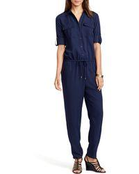 Ralph Lauren Lauren Petites Utility Jumpsuit - Lyst