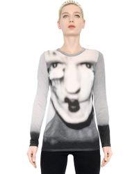 Gareth Pugh Face Printed Cotton Tshirt - Lyst