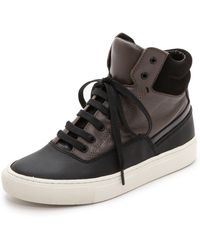 Vince Newman High Top Sneakers  Blackumber - Lyst