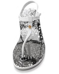 McQ by Alexander McQueen T Strap Flat Sandals - Lyst