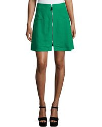 Risto - Zip-front A-line Skirt - Lyst