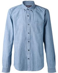 Vince Classic Denim Shirt - Lyst