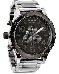 Nixon 51-30 Chrono Analog Watch silver - Lyst