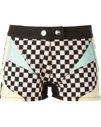 Love Moschino Printed Shorts - Lyst