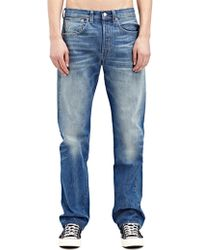 Levi's New Season - Levi'S Vintage Mens Straight Fit 1947 501 Shifty Light Washed Selvedge Denim Jeans - Lyst