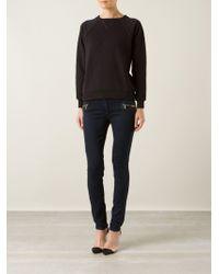 Saint Laurent Black Sweatshirt - Lyst