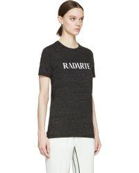Rodarte Charcoal Logo T_Shirt - Lyst