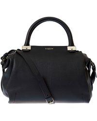 Lanvin - Black Trilogy Bowling Matte Leather Bag - Lyst