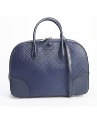 Gucci Blueberry Diamante Leather Convertible Bag - Lyst