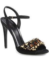 Gucci 'Malin' Suede Sandal - Lyst