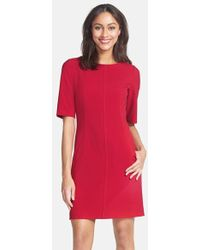 Tahari Seamed A-Line Dress - Lyst