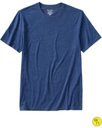 Banana Republic Factory Fitted Crew Neck Tee Campus Blue - Lyst