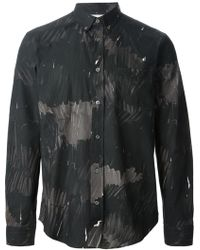 Acne Studios Gray Isherwood Shirt - Lyst