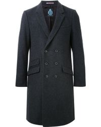 Guild Prime - Double Breasted Overcoat - Lyst