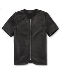 Alexander Wang Shortsleeved Perforatedleather Jacket - Lyst