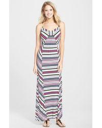Laundry by Shelli Segal Multi Stripe Jersey Maxi Dress - Lyst