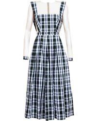 Natasha Zinko Checked Midi Dress - Lyst