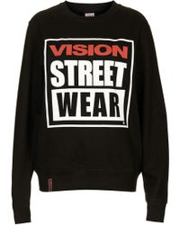 Topshop Crew Neck Sweat By Vision - Lyst