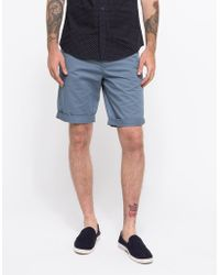 Topman Flinstone Grey Perry Short blue - Lyst