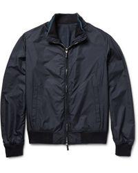 Hackett Windowpane-Check Wool Harrington Jacket - Lyst