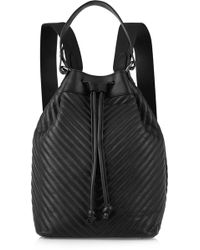 Iris & Ink - Ruby Chevron-quilted Leather Backpack - Lyst