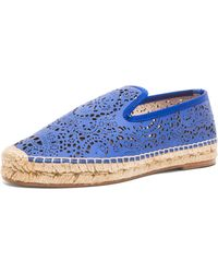 Elysewalker Los Angeles Laser Cut Nubuck Leather Espadrilles - Lyst