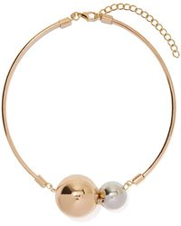 Nasty Gal Bust Your Balls Necklace gold - Lyst