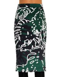 Vivienne Westwood Anglomania Cheese Plant-print Pencil Skirt - Lyst