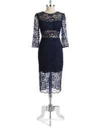 ABS by Allen Schwartz Lace Sheath Dress - Lyst