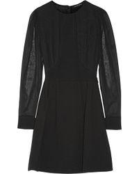 Jill Stuart Pelin Silk-Paneled Wool-Blend Crepe Mini Dress - Lyst