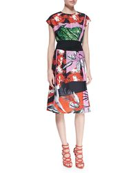 Clover Canyon Secret Garden Cap-Sleeve Printed Dress - Lyst