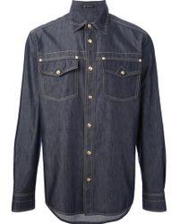 Versace Denim Shirt - Lyst