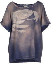 Balmain T-Shirt blue - Lyst