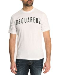 DSquared² White Logo Classic Fit Tshirt - Lyst