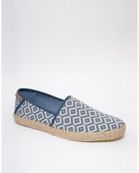 Ted Baker Blue Woven Espadrilles - Lyst