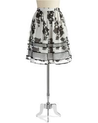 Adrianna Papell Floral Print Skirt - Lyst