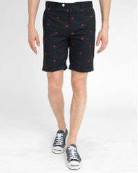 Vicomte A. Navy Crab Print Bermuda Shorts blue - Lyst