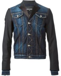 DSquared2 Panelled Denim Jacket - Lyst