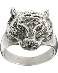 Love Bullets Skool Ov Jenius Panther Ring in Sterling Silver - Lyst
