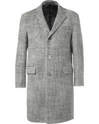 Officine Generale Patterned Wool Overcoat - Lyst