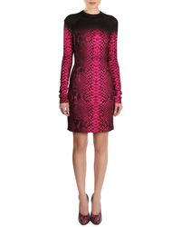 Christopher Kane Snakeskinprint Longsleeve Dress - Lyst
